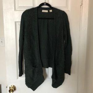 Dark Green Cardigan Sweater